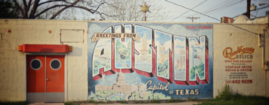 Greeting for Austin Capital of Texas Mural